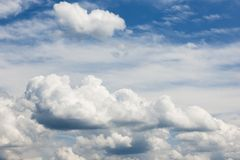 Stratocumulus clouds_bavaria July 14_41 PM north royalty free stock photography