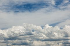 Stratocumulus clouds_bavaria July 14_45 PM north royalty free stock photo