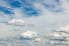 Stratocumulus clouds_bavaria July 14_42 PM north royalty free stock image