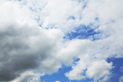 Stratocumulus clouds and the blue sky. Stratocumulus clouds and the dark blue sky stock photos