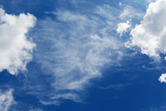 Stratocumulus clouds and the blue sky Royalty Free Stock Photos