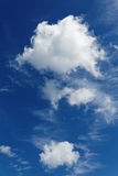 Stratocumulus clouds and the  blue sky Stock Image