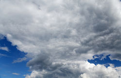 Stratocumulus clouds and the  blue sky Stock Photography