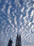 Stratocumulus clouds Stock Image