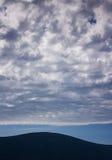 Stratocumulus clouds, Tivat, Montenegro. Stock Photos