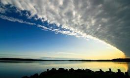 Stratocumulus van wolken. Royalty-vrije Stock Afbeelding