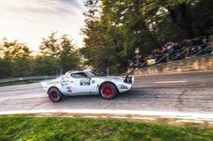 Stratos du Saint-Marin le 21 octobre 2017 - Lancia au rassemblement la légende Image libre de droits