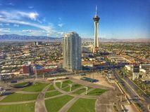 Stratosfeertoren Las Vegas stock foto's