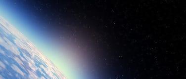 Stratosphärehimmel stock abbildung