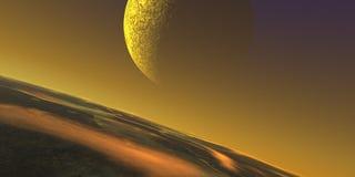 Stratosphäremond lizenzfreie abbildung