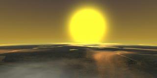 Stratosphäresonne Lizenzfreie Stockbilder