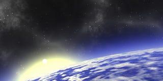 Stratosphäresonnenaufgang vektor abbildung