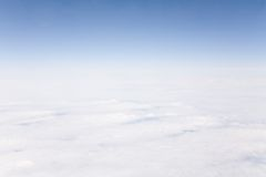 Stratosphere. Cloud formations, skyline and stratosphere taken from high altitude Stock Photography