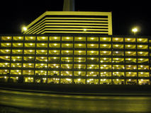 Stratosphere building at night. Picture of the Stratosphere parking garage in Las Vegas, Nevada taken at night Royalty Free Stock Photography