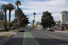 Stratosphere from downtown Las Vegas, Nevada Royalty Free Stock Photo