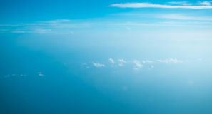 Stratosphere earth plane fly Royalty Free Stock Images