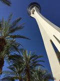 The stratosphere hotel at Las Vegas. Under the highest tower at Las Vegas city t Royalty Free Stock Photo