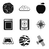 Stratosphere icons set, simple style Royalty Free Stock Image