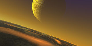 Stratosphere moon Stock Photo
