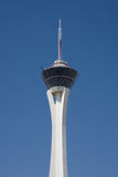 The Stratosphere tower in Las Vegas. A view of the top of the Stratosphere tower in Las Vegas royalty free stock image