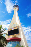 Stratosphere Tower, Las Vegas. Stratosphere Las Vegas is a tower, hotel, and casino located on Las Vegas Boulevard just north of the Las Vegas Strip in Las Vegas Royalty Free Stock Photography