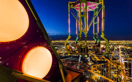 At stratosphere tower of Las Vegas at night, nevada Royalty Free Stock Photography