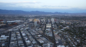 Stratosphere tower of Las Vegas at night, nevada. LAS VEGAS, NEVADA - APRIL 10, 2015 : aerial view of the city from the stratosphere building, in Las Vegas Royalty Free Stock Photography