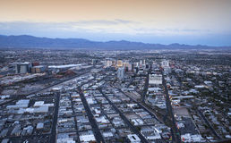 Stratosphere tower of Las Vegas at night, nevada. LAS VEGAS, NEVADA - APRIL 10, 2015 : aerial view of the city from the stratosphere building, in Las Vegas Royalty Free Stock Image