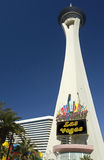 Stratosphere Tower - Las Vegas - USA. The 'Stratosphere' Tower and casino in Las Vegas in the state of Nevada in the United States of America Stock Image