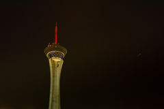 Stratosphere tower at Night, Las Vegas Royalty Free Stock Photography