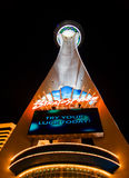 Stratosphere in Vegas. Night lights of the Stratosphere Tower in Vegas Royalty Free Stock Images