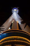 Stratosphere in Vegas. Night lights of the Stratosphere Tower in Vegas Stock Images