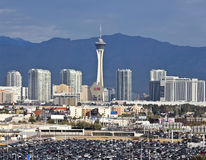 A Stratosphere View from McCarran International Airport Royalty Free Stock Image