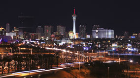 A Stratosphere View from McCarran International Airport Stock Photography