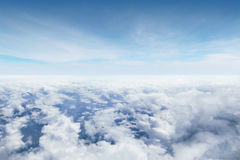Stratosphere. View from over the cloudy sky Royalty Free Stock Images