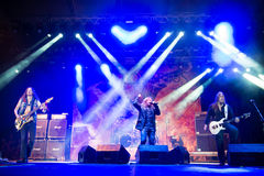 Stratovarius on Rock pod Kamenom fest in Snina, Slovakia Stock Photos