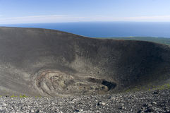 Stratovolcano Tyatya de Krater Photographie stock libre de droits
