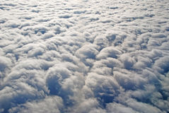 Stratus Clouds from above. This picture is taken of a stratus cloud layer near Anchorage, Alaska Royalty Free Stock Photos