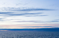 Stratus clouds. Over the sea Royalty Free Stock Images