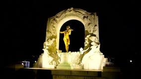Strauss de oro por la tarde, Viena, Austria almacen de metraje de vídeo