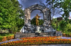 strauss de statue de Johann Image libre de droits