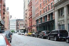 Strauss-Kahn bajo arresto domiciliario en la calle de Franklin Imagen de archivo libre de regalías