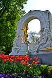 Strauss staty royaltyfri fotografi