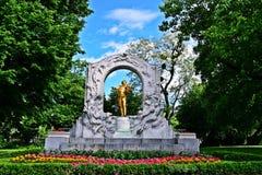 Straussstandbeeld in Wien stock afbeeldingen