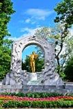 Straussstandbeeld in Wien royalty-vrije stock foto