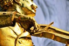 Straussstandbeeld in Wien stock afbeelding