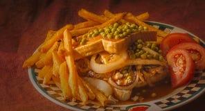 Stravaganza calda del pollo Fotografia Stock
