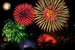 Stravaganza dei fuochi d'artificio Fotografie Stock