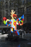 Stravinsky Brunnen - Paris Stockbilder