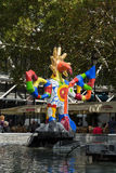 Stravinsky Fountain in Paris Royalty Free Stock Photos